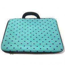 Capa para Notebook 15,6 polegadas com Estampa Verde com Bolinhas Azul Forte