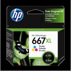 Cartucho HP 667XL Colorido Original 8 ml (F6V30AB) para HP Deskjet 1275 2376 2774 2776 6475 6476