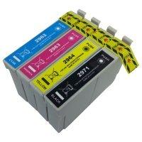 Kit 4 Cartuchos Epson XP 241 Compatível 296 Coloridos 13ml e Preto 17ml masterprint