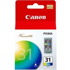 Cartucho de Tinta Canon CL-31 Tricolor Original 9ml - Pixma Series IP1800 IP2600 MP140 MP190 MP470