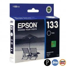 Cartucho de Tinta Epson T133120 T133 T1332 Preto T25 TX125 TX420W TX123 TX320F Original 7ml