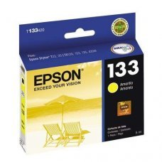 Cartucho de Tinta Epson T133420 T133 T1334 Amarelo T25 TX125 TX420W TX123 TX320F Original 5ml