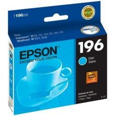Cartucho de Tinta Epson 196-2 Ciano Original 4ml T196220 - Expression XP204 XP411 WF2532