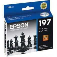 Cartucho de Tinta Epson 197 Preto Original 8ml T197120 - Expression XP-101 XP-201 XP-411 WF-2532