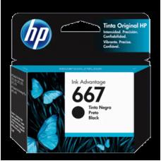 Cartucho HP 667 Preto Original 2 ml (3YM79AL) para HP Deskjet 1275 2376 2774 2776 6475 6476