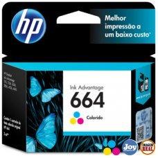 Cartucho HP 664 F6V28AB Colorido Original