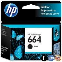Cartucho HP 664 Preto Original (F6V29AB) para HP Deskjet 2136 2676 3776 5076 5276