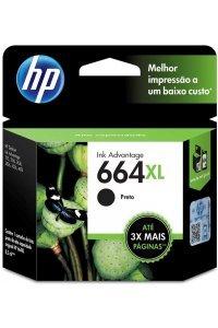 Cartucho de Tinta HP 664 XL Preto Original 8,5 ml F6v31AB - DeskJet Ink Advantage - 1115 2136 3636 3836 4536 4676