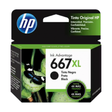 Cartucho HP 667XL Preto Original 8,5 ml (3YM81AL) para HP Deskjet 1275 2376 2774 2776 6475 6476