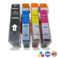 Kit 4 Cartuchos Hp 670xl Ink Advantage 3525 4615 4625 5525