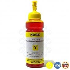 Garrafa de Tinta HP Vivera Amarelo 100ml Kora