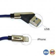 Cabo de Celular Iphone 8 Pinos 1m Azul SHCBS4 Shinka