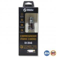 Carregador Veicular Turbo 3.0A com Cabo Micro USB V8 SH 304Q Shinka