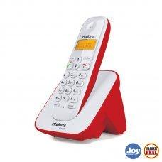 Telefone sem Fio Identificador de Chamadas TS 3110 Vermelho Intelbras