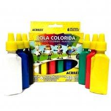Cola Colorida com 6 Cores 23g 02606 Acrilex