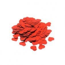 Confete Coração 1,5cm Metalizado Vermelho Para Balão 10g 4889 Make+