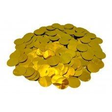 Confete Redondo 1cm Metalizado Ouro Para Balão 10g 4882 Make+