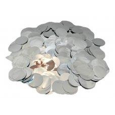 Confete Redondo 1cm Metalizado Prata Para Balão 10g 4883 Make+
