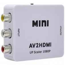 Conversor de Vídeo Composto 3 Rca Av para HDMI