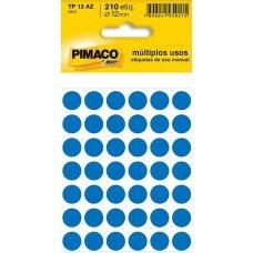 Etiqueta Adesiva Ø 12mm Azul TP-12 5 Folhas Pimaco