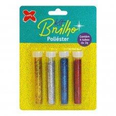 Glitter Kit Brilho Poliéster 4 Tubos de 2g 7033 Make+