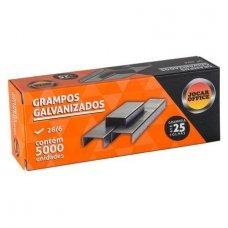 Grampo Galvanizado 26/6 5.000un 93010 Jocar Office