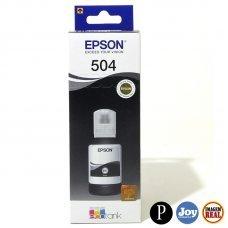 Garrafa de Tinta Epson 504 Preto Original 127ml 7.5K