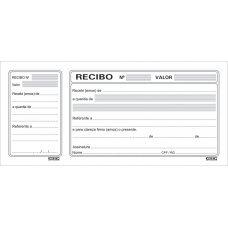Recibo Comercial Com Canhoto 200x91mm com 20 Blocos São Domingos