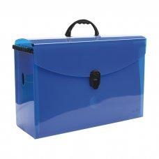 Maleta Arquivo Azul com 10 Pastas Suspensas Kraft 0317.C Dello