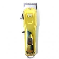 Máquina De Cortar Cabelo Profissional KM-2600 Dourada Kemei