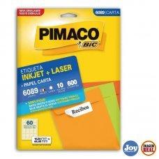 Etiqueta ink-jet/laser Carta 16,93x44,45 6089 Pimaco