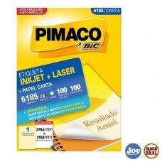 Etiqueta ink-jet/laser Carta 279,4 x 215,9 6185 Pimaco