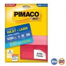Etiqueta ink-jet/laser Carta 84,67 x 101,6 6284 Pimaco