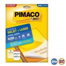 Etiqueta ink-jet/laser Carta 279,4 x 215,9 6285 Pimaco