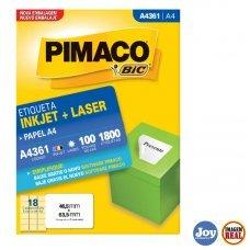 Etiqueta ink-jet/laser A4 46,5 x 63,5 A4361 Pimaco