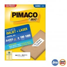 Etiqueta ink-jet/laser A4 38,1 x 99,0 A4363 Pimaco