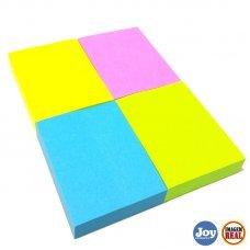 Bloco Post it 38x50mm com 4 Unidades Colorido Neon 100fls Masterprint