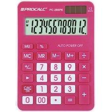 Calculadora 12 Dígitos Rosa PC286PK Procalc