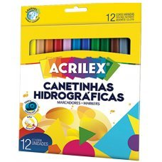 Caneta Hidrográfica 12 Cores 06922 Acrilex
