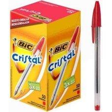 Caneta Esferográfica Bic Cristal 1 Unidade - Vermelha