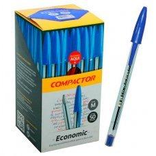Caneta Esferográfica Média 1.0mm Economic Azul 50un Compactor