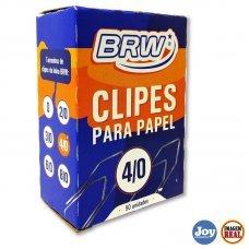 Clips BRW Galvanizado 4/0 50 Unidades Prata