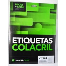 Etiqueta Adesiva Colacril Inkjet + Laser Papel Carta 25 Folhas com 2000 Etiquetas - CC287