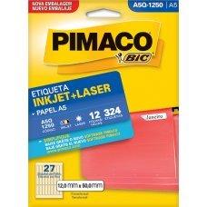 Etiqueta Adesiva Pimaco Inkjet + Laser Papel A5 12 Folhas com 324 Etiquetas - A5Q1250