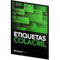Etiqueta Adesiva Colacril Inkjet + Laser Papel Carta para CD e DVD 25 Folhas com 50 Etiquetas - CC25CD