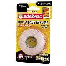 Fita Adesiva Dupla Face Espuma Banana 12mmx2m