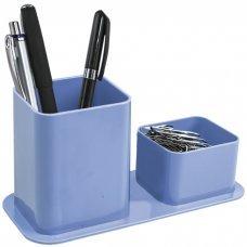 Porta canetas e clips azul claro Dello
