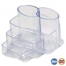 Porta Canetas Plástico Cristal 7 divisões Dello