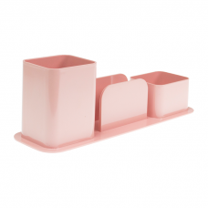 Porta Lápis, Canetas e Lembretes Rosa Claro Dello