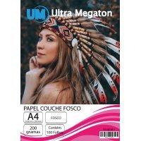 Papel Couche Fosco A4 200g 100 folhas Ultra Megaton